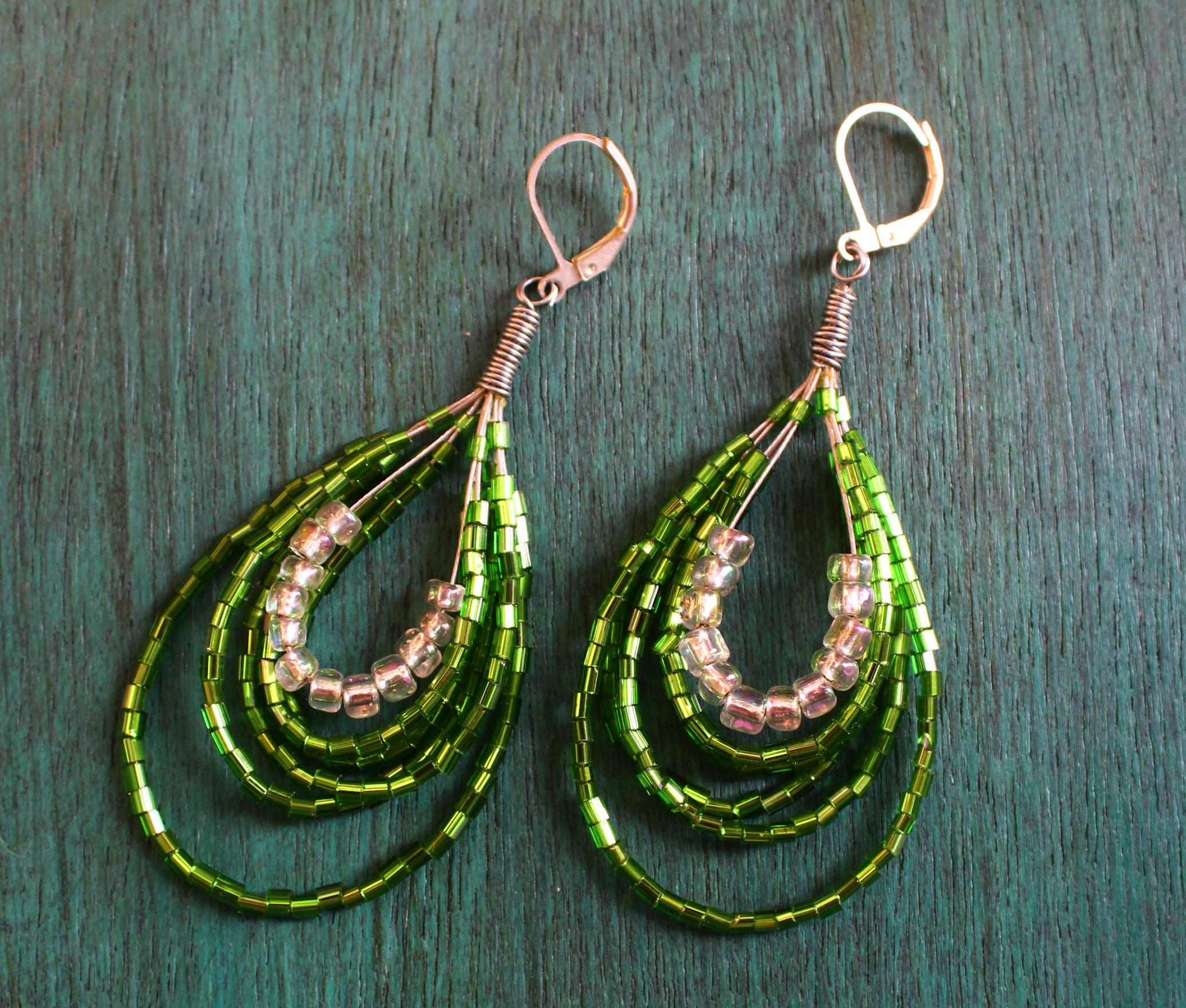 Sap Green Danglers For Women